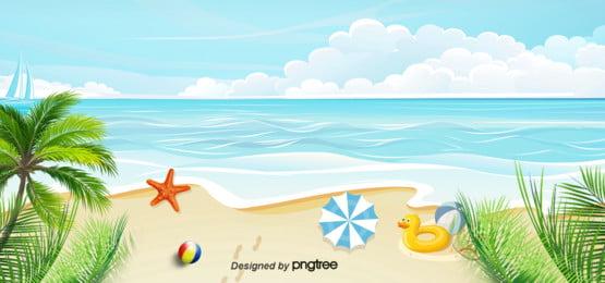 mặt trời mùa hè  bãi biển du lịch nghỉ nền , Mùa Hè, Mặt Dù, Cây Dừa Ảnh nền
