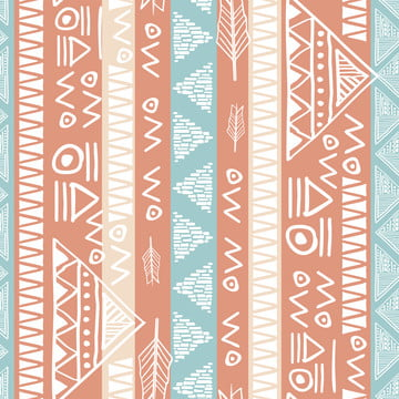 colorful native maya ancient seamless stripes pattern vector illustration for women fashion textile print , Wallpaper, Texture, Design Background image