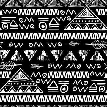 エジプトの落書き手シームレスな古代図面と部族民族パターン , 抄録, アフリカ人, アメリカン 背景画像