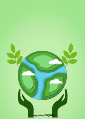 Green Environment Creative Paper style Earth Day , Protection, Protection De La Terre, Creative image de fond