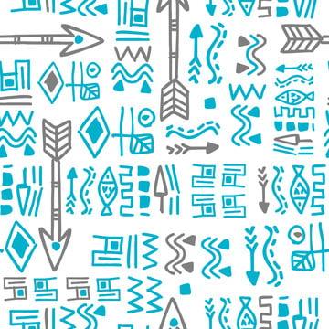 シームレスな手で装飾パターンは、ファッションテキスタイルプリントベクトルイラストの民族的な背景を描いた , 抄録, アフリカ, アフリカ人 背景画像