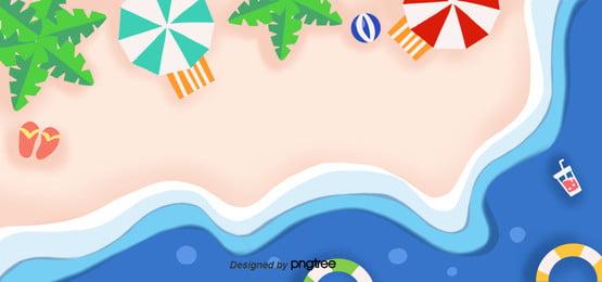 कागज कट तापमान  हवा की गर्मियों में हाथ से पेंट ताजा समुद्र तट पृष्ठभूमि , कागज-कट हवा, गर्मियों में, समुद्र तट पृष्ठभूमि छवि