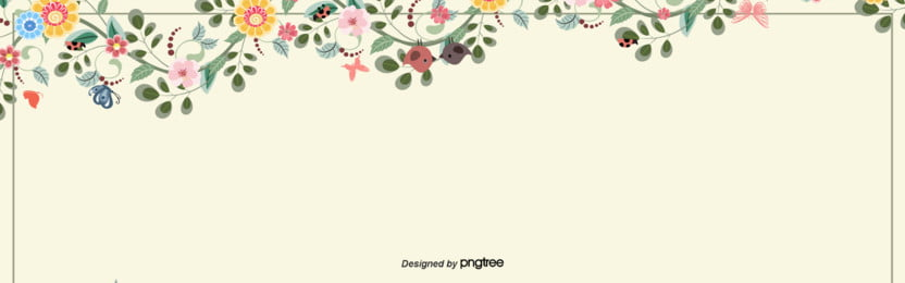 simple spring colorful flower border background , Season, Hand Painted, Spring Background image