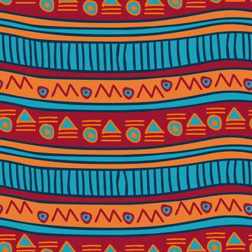 धारियों हाथ निकालके निर्बाध पैटर्न वेक्टर चित्रण बोहेमियन अफ्रीकी एज़्टेक पृष्ठभूमि , सार, अफ्रीका, अफ्रीकी पृष्ठभूमि छवि