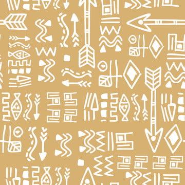 पीले रंग पैटर्न के साथ सहज हाथ से तैयार की आदिवासी जातीय पृष्ठभूमि के लिए फैशन वस्त्र प्रिंट वेक्टर चित्रण , सार, अफ्रीका, अफ्रीकी पृष्ठभूमि छवि