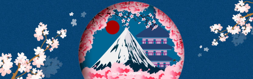 青中国風富士山ポスター , 中国風, 塔, 太陽 背景画像