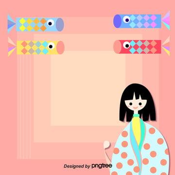子供の日の変化の背景 , 子供の日, 幾何学, 女の子 背景画像