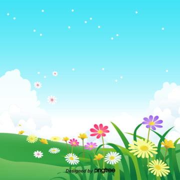 синий тучный цветок дизайн , сезон, мелкая трава, весенний фон Фоновый рисунок
