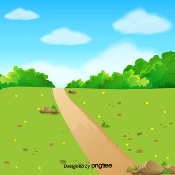 新鮮的自然景觀背景 , 季節, 草, 春天背景 背景圖片