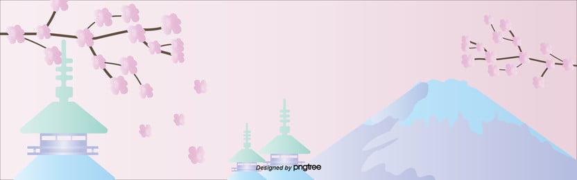 耽美桜富士山春図 , 唯美の桜, 富士山, 春の旅 背景画像