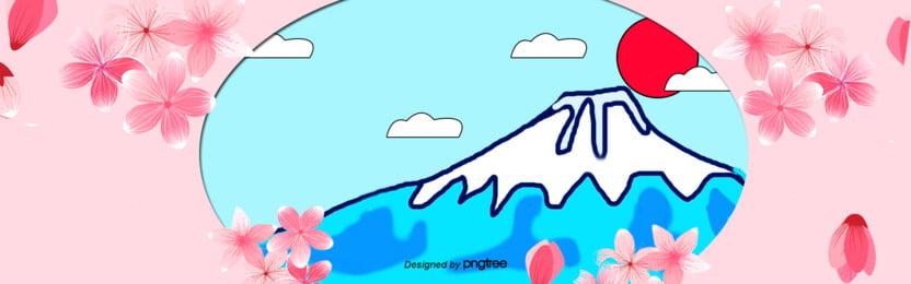 3 d立体つづ色日本富士山buner , 3 D立体buner, カットスタイル, 富士山の背景 背景画像