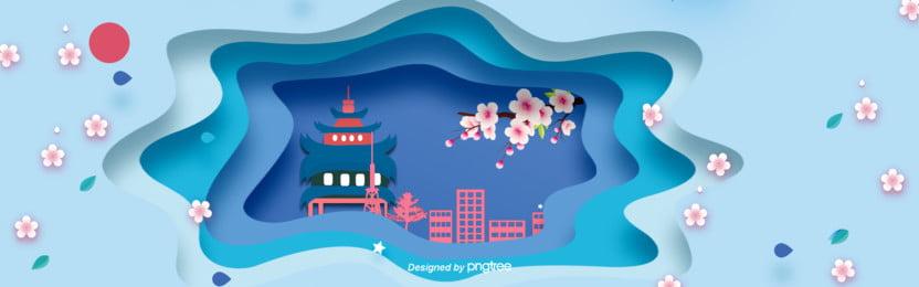 3 d立体つづ色日本古塔buner , 3 D立体buner, カットスタイル, 都市建築 背景画像