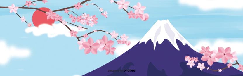 3 d立体つづ色水墨スタイル日本富士山buner , 3 D立体buner, 富士山の背景, レース背景 背景画像