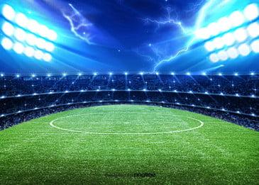 efeitos de iluminação de fundo de campo de futebol, Grande, Momentum, A Luz Imagem de fundo