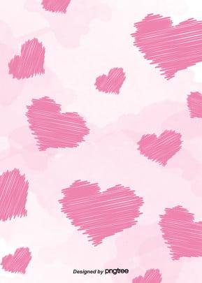 ピンクのハート、墨付きの少女の背景 , 飛び散る, 少女, 水彩 背景画像