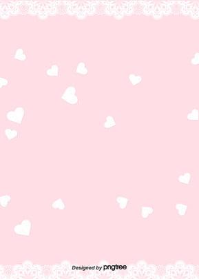 粉紅色花邊愛女孩背景 , 女孩, 柔軟的蒼白, 心的愛 背景圖片
