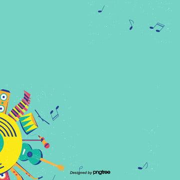 o festival de música instrumental de fundo pintado à mão em azul liso , Instrumentos Musicais, Pintados à Mão, Simples Imagem de fundo