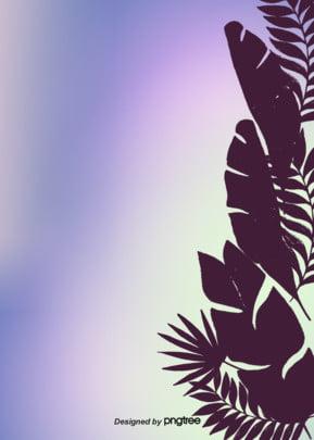 ग्रैडिएंट रंग का हाथ खींचा शैली शांत अरोड़ा पृष्ठभूमि उष्णकटिबंधीय पत्ते सिल्हूट गर्मियों वातावरण पृष्ठभूमि , सिल्हूट, गर्मियों में, माहौल पृष्ठभूमि छवि
