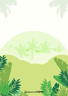 हरे रंग की हाथ से पेंट शैली ताड़ के पत्तों के silhouettes नारियल खजूर के वन silhouettes गर्मियों वातावरण पृष्ठभूमि , सिल्हूट, गर्मियों में, माहौल पृष्ठभूमि छवि