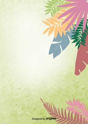 緑の油絵を厚く塗るスタイルの棕櫚の葉のシルエットが多彩な夏の雰囲気の背景です , 影を切る, 厚塗り, 夏 背景画像