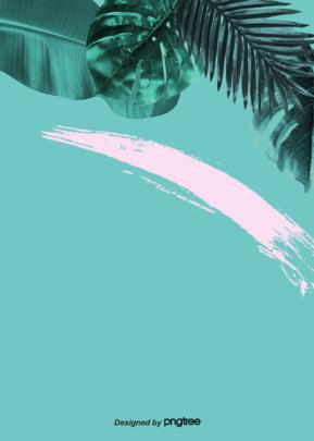 夏の雰囲気を背景に緑のリアルなピンクのインクがちりばめられています , 実を書く, 積み重ねる, 墨跡 背景画像
