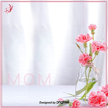 Mothers Day Carnation Pure Taobao E-commerce Background, Aesthetic Background, Carnation, Mothers Day, Background image