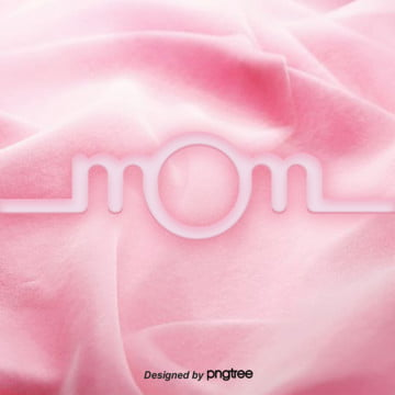 three dimensional pink warm mom character made of flannel fabric , Warm Color, Stereoscopic, Pink Background image