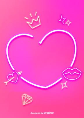 pink love neon tube pattern background , Luminous Efficiency, Geometric, Creative Background image
