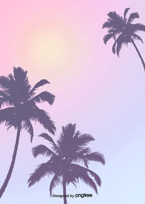 pink purple gradual style summer palm background , Summertime, Palm Tree, Gradient Style Background image