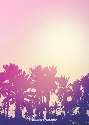 बैंगनी ढाल शैली गर्मियों में ताड़ के पेड़ पृष्ठभूमि , गर्मियों में, गर्मियों में, खजूर के पेड़ पृष्ठभूमि छवि