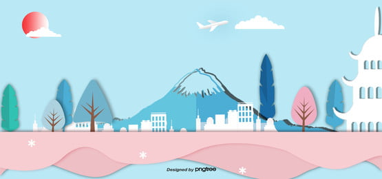 3 d立体日本ランドマーク建築用ペーパーカッター , 切り紙風, 古塔, 地印建築 背景画像