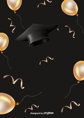 काले लक्जरी स्नातक टोपी पृष्ठभूमि , शानदार, रंग, स्नातक स्तर की पढ़ाई पृष्ठभूमि छवि