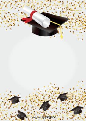 chapéu de formatura com fundo dourado de alegria , Lantejoulas, Boné, A Alegria Imagem de fundo