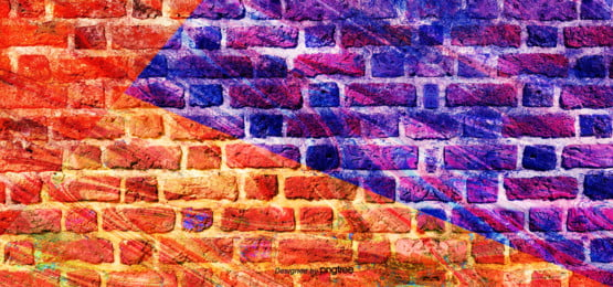 ink art color splicing brick wall graffiti background , Creative, Abstract, Printing Ink Background image