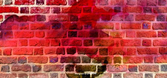 लाल रंग ईंट की दीवार भित्तिचित्र पृष्ठभूमि , रचनात्मक, सार, विचित्र पृष्ठभूमि छवि