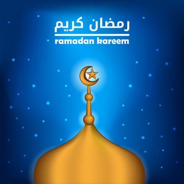 golden mosque roof with crescent and star with blue sky background for islamic event ramadan kareem or mubarak , Muslim, Ramadan, Dome Background image