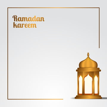 ramadan kareem and mubarak illustration elegant white space with golden traditional lantern , Background, Arabic, Mubarak Background image
