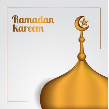 यथार्थवादी सुनहरा छत के साथ मस्जिद अर्धचंद्र और सितारा सजावट , 3 डी, सार, अधा पृष्ठभूमि छवि