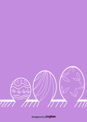 Simple Background Of Purple Linear Baseband Easter Eggs, White-edged Easter Egg, Simple Easter Background, Linear Pattern Eggs, Background image