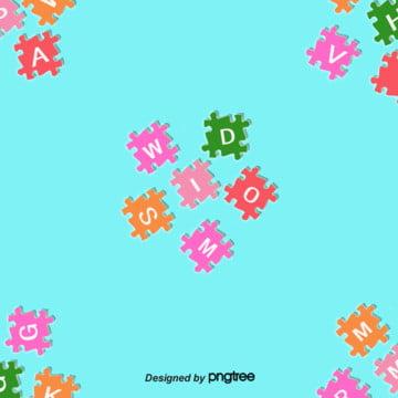 color puzzle background , Alphabet, Fond Du Puzzle, Puzzle Image d'arrière-plan