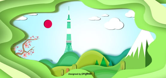3 d立体日本ランドマーク建築用ペーパーカッター , 3 D, 東京タワー, 紙切り 背景画像