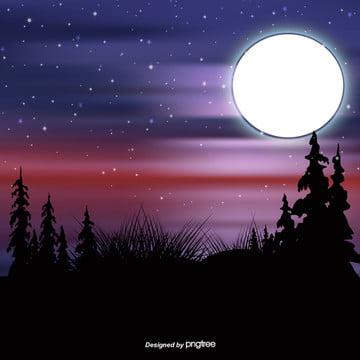 青い星の星空の夜空のベクトルの背景 , 夜の夜, 夜空, 夜空ベクトル 背景画像