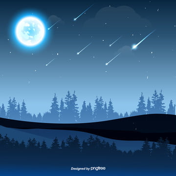 Under The Starry Night Sky, Star, Night, Sky Background Image for