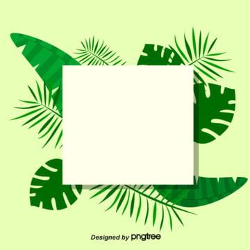 열대 나뭇잎 프레임 벡터 배경 , 여름., 삽화, 나뭇잎 배경 이미지