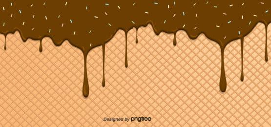 चॉकलेट आइसक्रीम प्रवाह पृष्ठभूमि , आइसक्रीम, रचनात्मक, चॉकलेट पृष्ठभूमि छवि