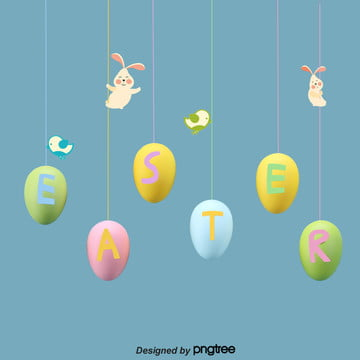 easter background of lovely rabbit and bird , Rabbit, Creative, Cartoon Background image
