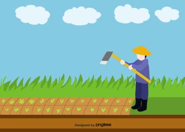 nông dân vất vả việc quần quật vỡ vườn rau bằng tay vẽ minh họa cho nền phẳng, Việc Vẽ Minh Họa Cho Nông Dân Làm Vườn, Môn Thủ Công Dân Trồng Rau, Ngày Quốc Tế Lao động Nông Dân Tổ Tông Ảnh nền