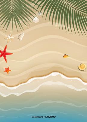 涼爽的海灘背景在夏天 , 葉, 夏季, 夏季 背景圖片
