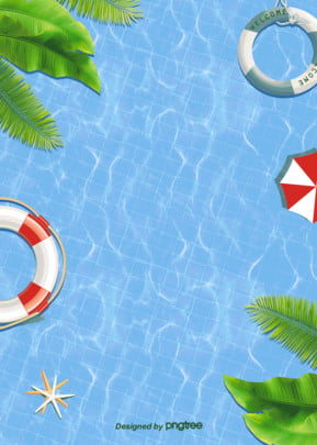 background of cool swimming pool in summer , Leaf, Summer, Summertime Background image
