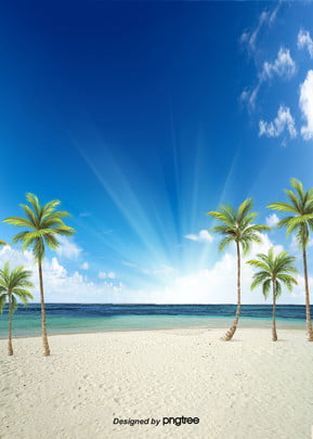 Background Of Fresh Beach In Summer, Summertime, Summer Background, Sea, Background image